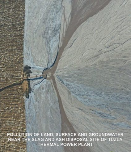 Pollution of land
