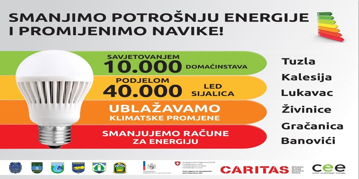 Utvrđivanje mogućnosti uštede energije nakon prošlogodišnjeg savjetovanja 10.000 domaćinstava