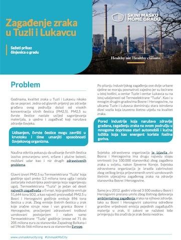 Zagađenje zraka u Tuzli i Lukavcu
